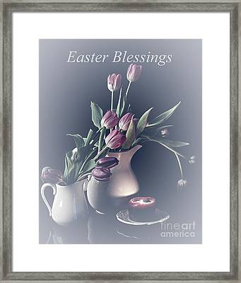 Easter Blessings No. 3 Framed Print by Sherry Hallemeier