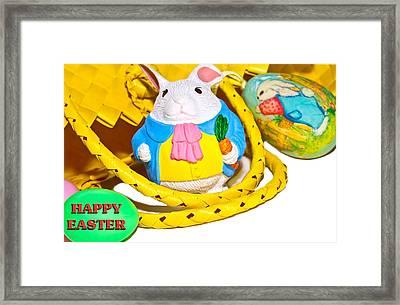 Easter Bunnies And Baskets Framed Print by Susan Leggett