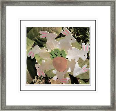 Easter Bunny Decoration Framed Print by Kathleen Struckle