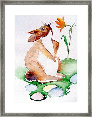 Easter Bunny Framed Print by Mindy Newman
