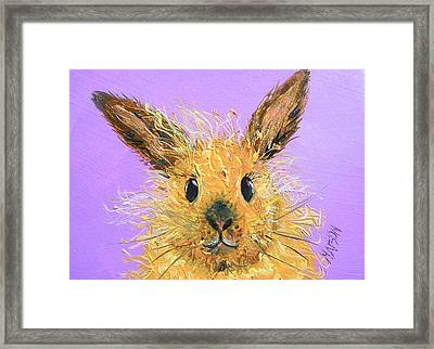 Easter Bunny  Painting - Poppy Framed Print by Jan Matson