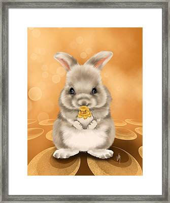 Easter Bunny Framed Print by Veronica Minozzi