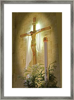 Easter Candle Framed Print by Don Wolf