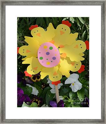 Easter Chick Decoration Framed Print by Kathleen Struckle