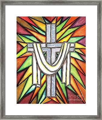 Easter Cross 5 Framed Print by Jim Harris