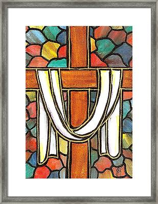 Framed Print featuring the painting Easter Cross 6 by Jim Harris