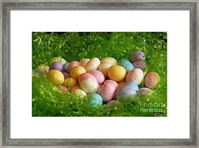 Easter Egg Nest Framed Print by Methune Hively