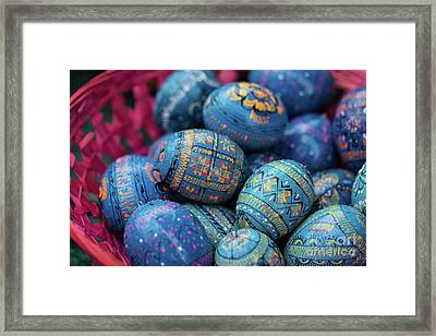 Easter Eggs Framed Print by Eva Lechner