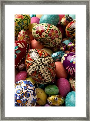 Easter Eggs Framed Print by Garry Gay