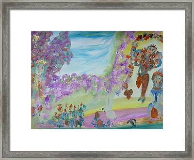 Easter Fairies Framed Print