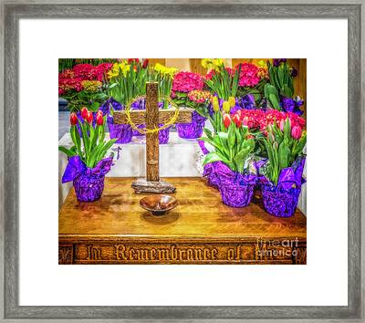 Framed Print featuring the photograph Easter Flowers by Nick Zelinsky