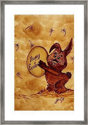 Easter Golden Egg For You Framed Print by Georgeta  Blanaru