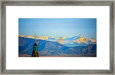 Easter In The Rockies Framed Print by Dennis Wagner