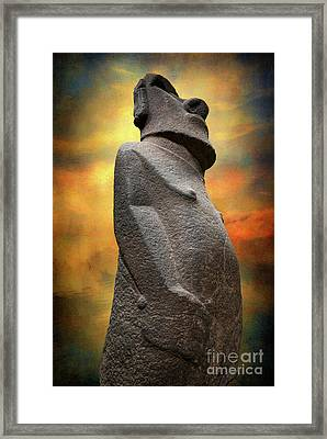 Framed Print featuring the photograph Easter Island Moai by Adrian Evans