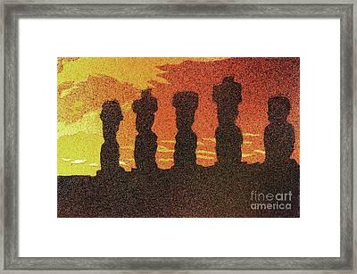 Easter Island Sunset II Framed Print by Ryan Fox
