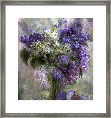 Easter Lilacs Framed Print by Carol Cavalaris