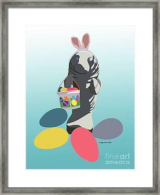 Easter Manatee Framed Print by Megan Dirsa-DuBois
