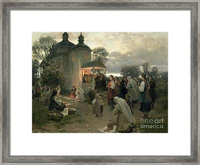 Easter Matins Framed Print by Nikolai Pimonenko