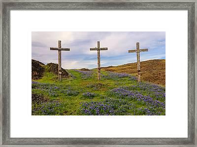 Easter Memorial Framed Print by Mike Ronnebeck