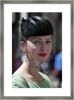 Easter Parade 2011 Hat And Veil Framed Print by Robert Ullmann