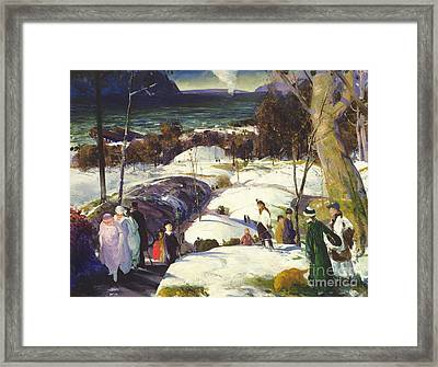 Easter Snow Framed Print by George Wesley Bellows