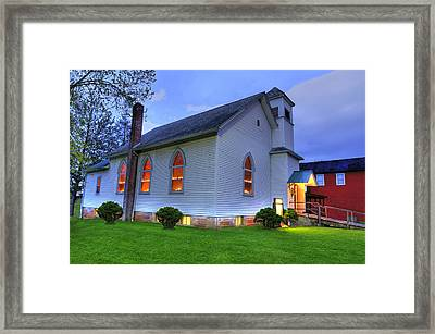 Easter Sunday Candlelight Ceremony Framed Print by Shirley Tinkham