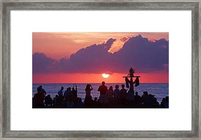 Easter Sunrise Beach Service Framed Print