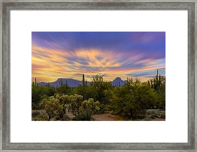 Easter Sunset H18 Framed Print by Mark Myhaver