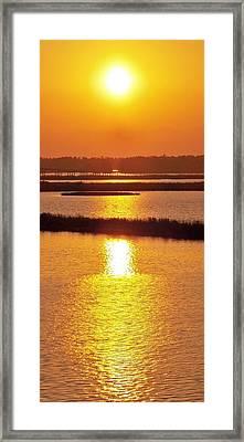 Easter Sunset Southwest Louisiana Framed Print by John Glass