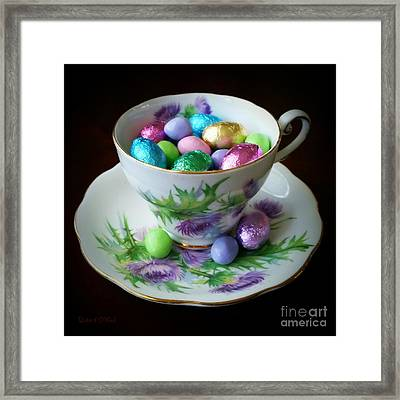 Easter Teacup Framed Print