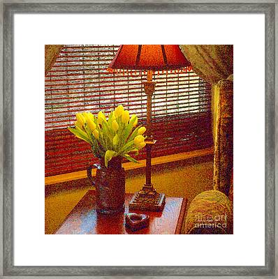 Easter Tulips Still Life - Paintograph Framed Print by Christine S Zipps