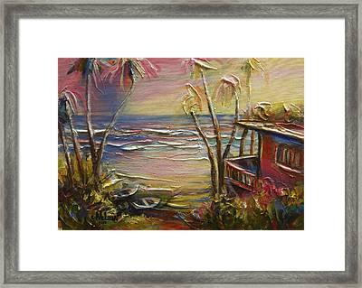 Easter Unwind Mayaro 2 Framed Print by Cynthia McLean