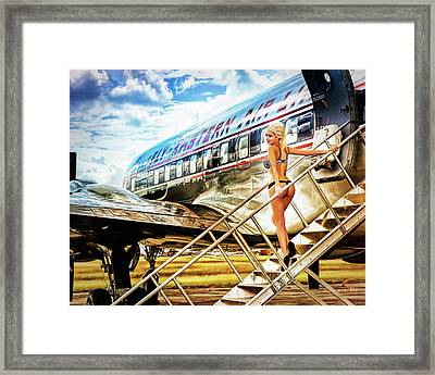 Eastern Airline Framed Print by Robert Alvarado