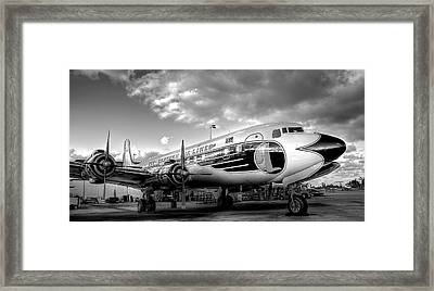 Eastern Airlines Dc7b Framed Print by William Wetmore