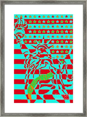 Eastern Airlines Lady Liberty Framed Print