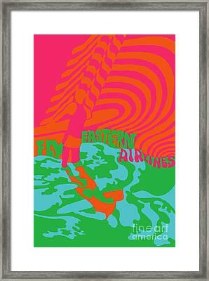 Eastern Airlines Surfer Framed Print
