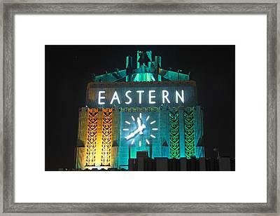 Eastern Clock Framed Print