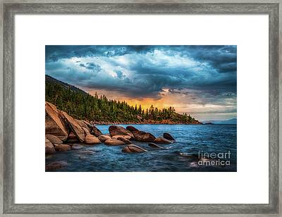 Eastern Glow At Sunset Framed Print by Anthony Bonafede