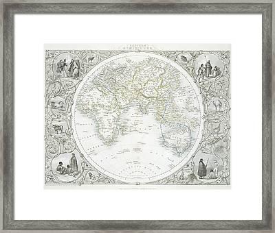 Eastern Hemisphere Framed Print by John Rapkin