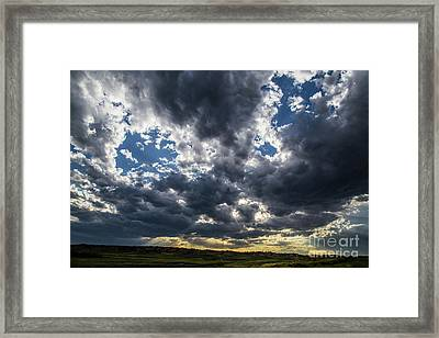 Eastern Montana Sky Framed Print by Shevin Childers