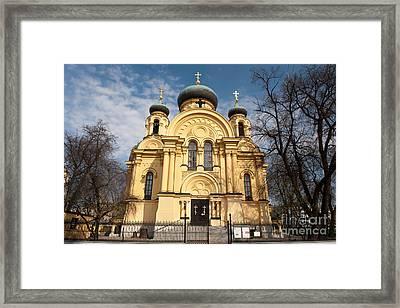 Eastern Orthodox Church In Warsaw Framed Print by Arletta Cwalina