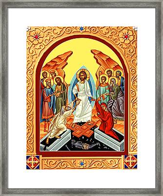 Eastern Orthodox  Resurrection Framed Print by Munir Alawi