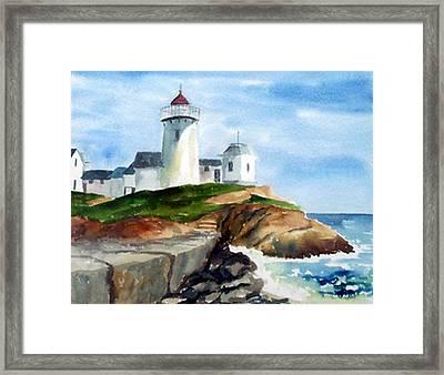Eastern Point Light Framed Print by Anne Trotter Hodge