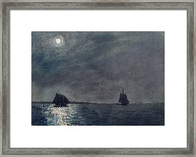 Eastern Point Light Framed Print by Winslow Homer