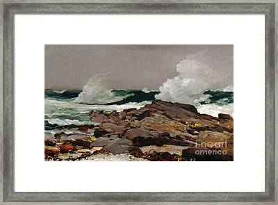 Eastern Point Framed Print by Winslow Homer