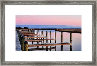 Eastern Shore On The Docks Framed Print