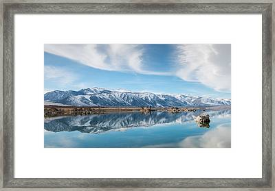 Eastern Sierra Nevada At Mono Lake Framed Print by Joseph Smith