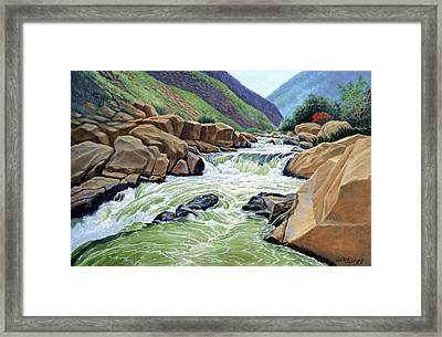 Eastern Sierra Stream Framed Print by Paul Krapf