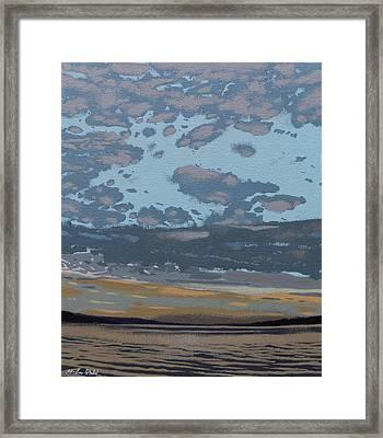 Eastern Sky Framed Print by Malcolm Warrilow