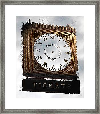 Framed Print featuring the photograph Eastern Standard Time by Christopher Woods